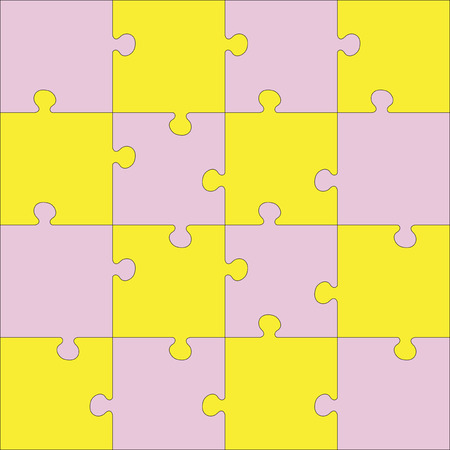 guidelines: Color Jigsaw puzzle. Every piece is a single shape. Seamless puzzle texture. Puzzle template. Cutting guidelines. Puzzle different shape. Cut on 16 piece.