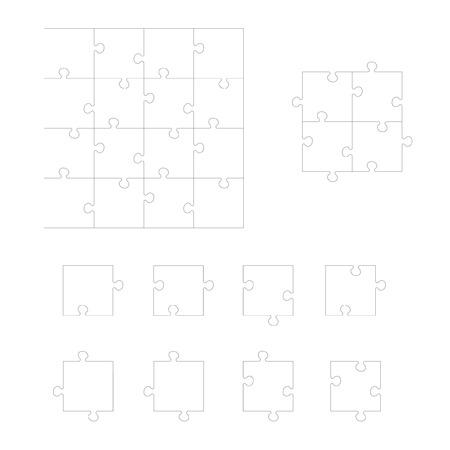 Set Puzzle. Jedes Stück ist ein Einzelform. Puzzle für Kinder. Rebus für Kinder im Vorschulalter. Cutting-Richtlinien. Puzzle-Elemente unterschiedlicher Form. Env 8 Standard-Bild - 40212438