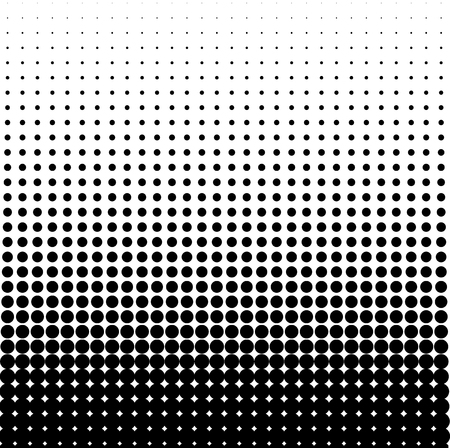 Abstract halftone. Black dots on white background. Halftone background. Vector halftone dots. Halftone on isolated background. Background for design.