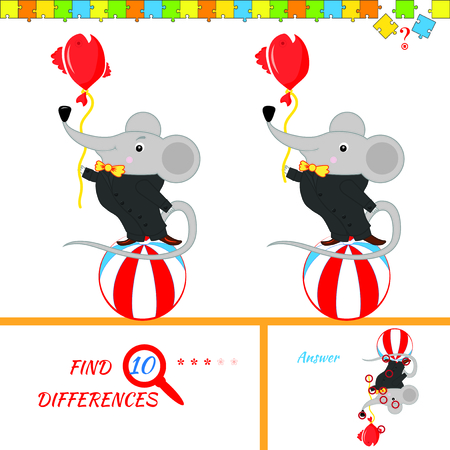 activity cartoon: Find ten differences