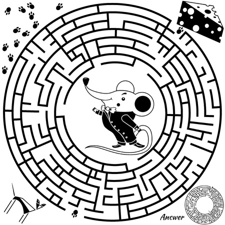 riddles: Maze vector Illustration