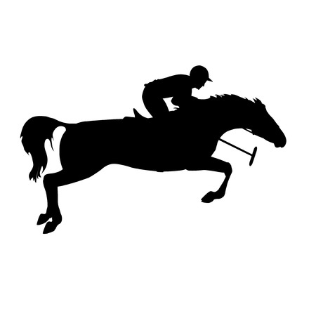 derby hats: Silhouette of a polo player with horse. Polo player on isolated background. Polo game. Horse polo silhouettes.