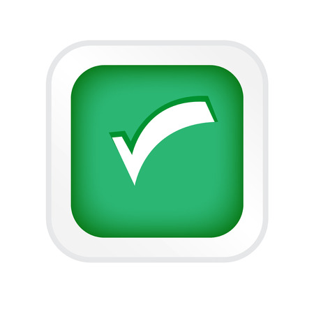 affirmative: Tick sticker. Check vector icon. Check Marks green color. Icon on white background