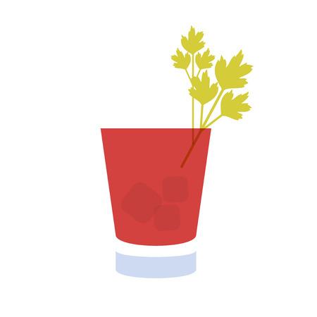 coctel de frutas: Bebida del alcohol y el icono de cóctel en estilo diseño plano. Icono de cóctel. Cóctel Vintage. Ilustración vectorial de cóctel. María Sangrienta