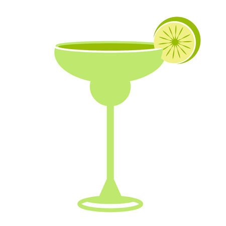 margarita drink: Alcohol drink and cocktail icon in flat design style. Cocktail icon. Vintage Cocktail. Vector illustration of cocktail. Margarita