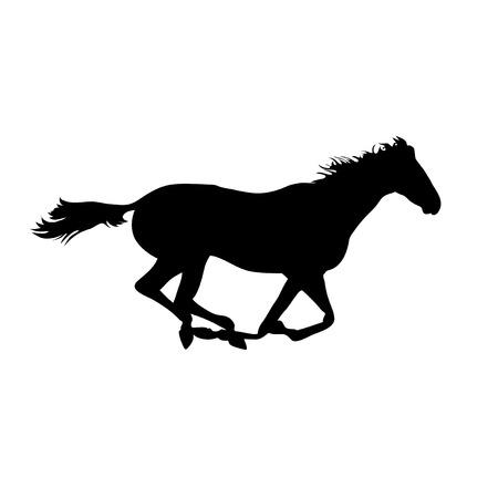 corse di cavalli: Immagini di cavalli Vector. Disegni cavallo silhouette. manifesti cavallo. Esecuzione cavallo silhouette. Silhouette di una testa di cavallo Vettoriali