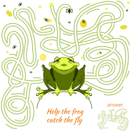 iq: Funny Maze Game for kids. Maze or Labyrinth Game for Preschool Children. Maze puzzle with solution Illustration