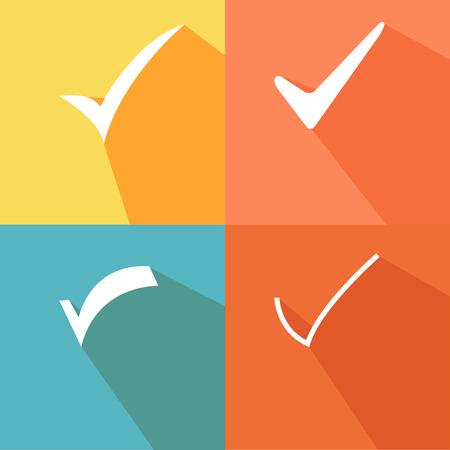 background check: Tick sticker. Check vector icon. Check Marks green color. symbol on white background Illustration