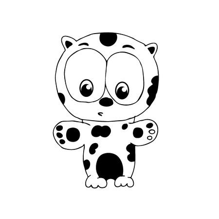 Bebé Leopardo Ilustraciones Vectoriales, Clip Art Vectorizado Libre ...