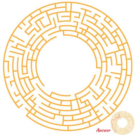 laberinto: Divertido juego de laberinto para los ni�os. Laberinto o el laberinto de juegos para ni�os en edad preescolar. Rompecabezas de laberinto con soluci�n