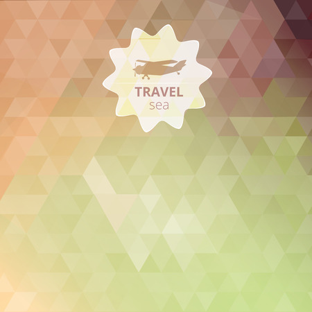 unfocused: Travel design. Vector web and mobile interface template. Ocean backdrop. Corporate website design. Vector. Typography label. Editable abstract background. Blurred