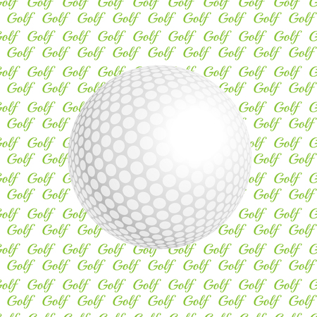 rendition: Vector golf ball. Golf ball. Vector illustration a traditional white golf ball. Golf logo. Golf background. Realistic rendition of golf ball texture. Golf texture background