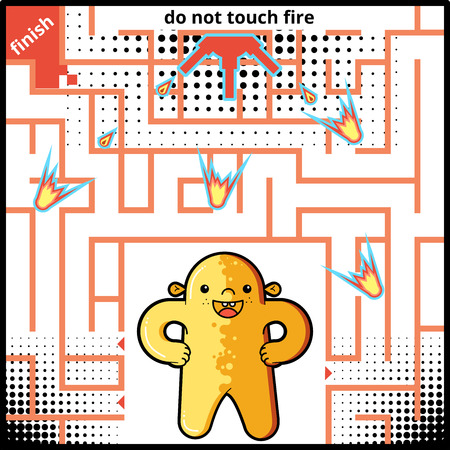 newcomer: Funny Maze Game for kids. Maze or Labyrinth Game for Preschool Children. Maze puzzle with solution Illustration
