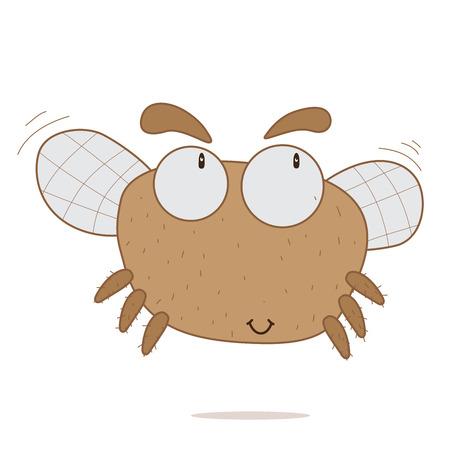 mosca: Ilustraci�n del vector de la mosca.