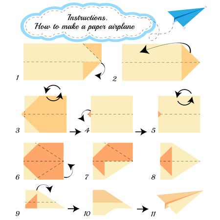 tutorial: Paper plane tutorial step by step.