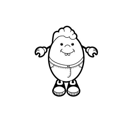 cartooning: Illustration of Cartoon egg character.