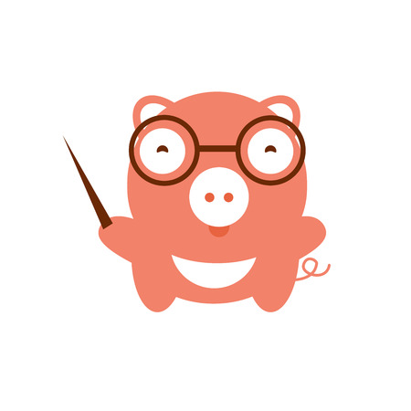 cute pig: illustration of cute pig.