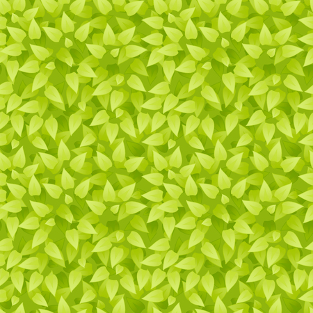Vector realistic grass background. Grass seamless pattern. Green leaves texture. Eco floral pattern. Organic or botanic background. Season summer or spring backdrop