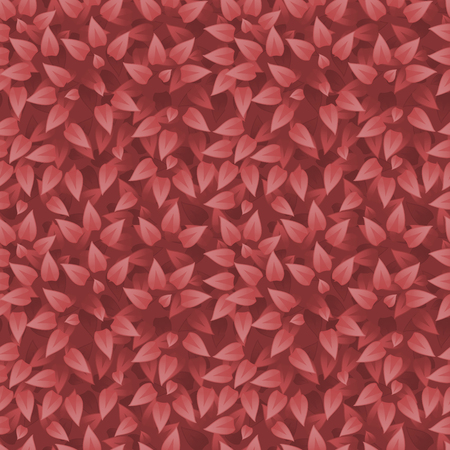 botanic: Vector realistic grass background. Grass seamless pattern. Red leaves texture. Eco floral pattern. Organic or botanic background with foliage. Season autumn backdrop