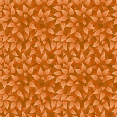 botanic: Vector realistic grass background. Grass seamless pattern. Orange leaves texture. Eco floral pattern. Organic or botanic background with foliage. Season summer or autumn backdrop