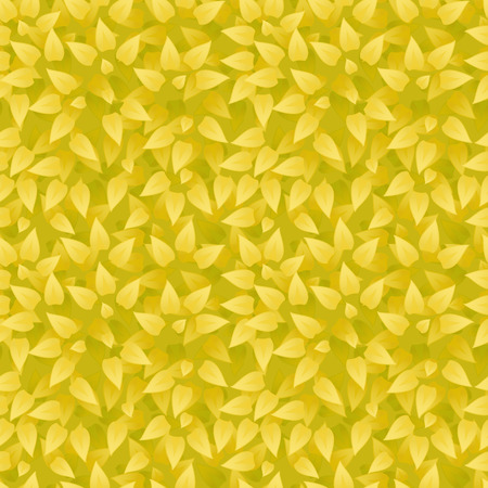 botanic: Vector realistic grass background. Grass seamless pattern. Yellow leaves texture. Eco floral pattern. Organic or botanic background with foliage. Season summer or autumn backdrop