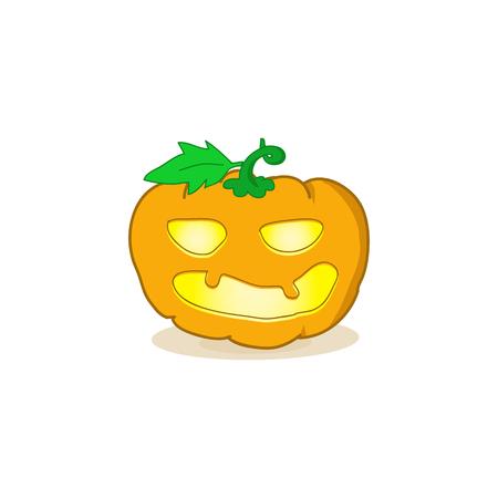 jack'o'lantern: Cartoon vector illustration of a Jack-O-Lantern pumpkin.Halloween jack-o-lantern, pumpkin - isolated illustration Illustration