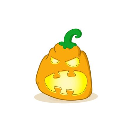 jack o lantern: Cartoon vector illustration of a Jack-O-Lantern pumpkin.Halloween jack-o-lantern, pumpkin - isolated illustration. Vector spooky halloween jack o lanterns Illustration
