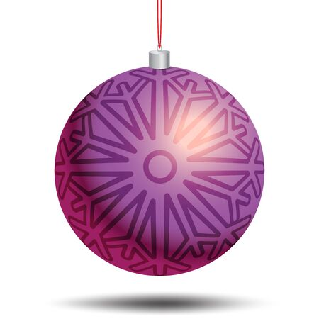 pictogramme: Circle Christmas and New Year toy, symbols with snowflake. Christmas card, banner, flyer. Vector templates with Christmas ball. New year celebration pictogramme