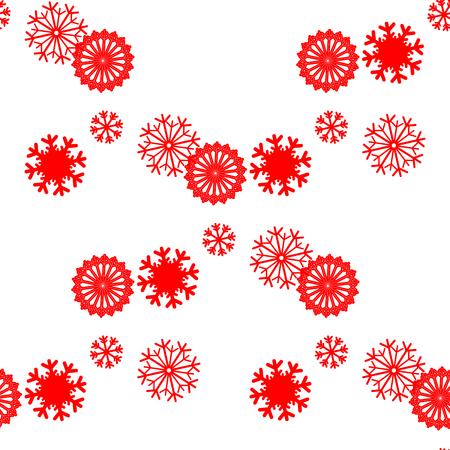 schneeflocke: Schneeflocke-Vektor-Muster. Duotone nahtlose Winter Textur. Winter Hintergrund. Weihnachten-Vorlage. Red nahtlose Schneeflocken-Muster