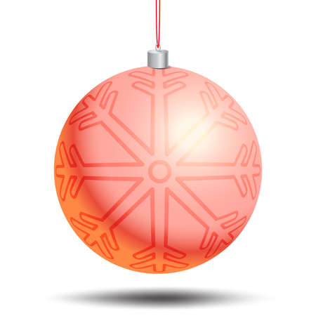 christmas balls: Unique vector concept with christmas and new year celebration element. New year background for banners, flyers and other types of business design. Vector christmas ball