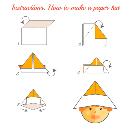 Instructions How To Make Paper Hat Tutorial Hat Made Of Paper