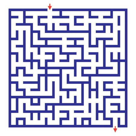 brain teaser: Funny maze game for kids. Visual game for Preschool Children. Maze puzzle with solution. Vector Labyrinth for preschool children. Rebus or quiz for school Illustration