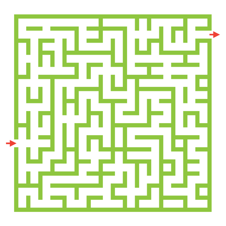 Funny maze game for kids. Visual game for Preschool Children. Maze puzzle with solution. Vector Labyrinth for preschool children. Rebus or quiz for school Vectores