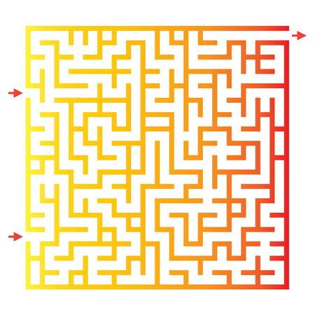 school clipart: Funny maze game for kids. Visual game for Preschool Children. Maze puzzle with solution. Vector Labyrinth for preschool children. Rebus or quiz for school Illustration