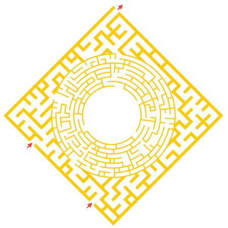 jeu visuel pour enfants d'âge préscolaire. jeu de labyrinthe drôle pour les enfants. Vector Labyrinth pour les enfants d'âge préscolaire. Rebus ou un questionnaire pour l'école