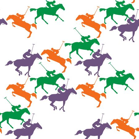 polo paard patroon op geïsoleerde achtergrond Vector Illustratie