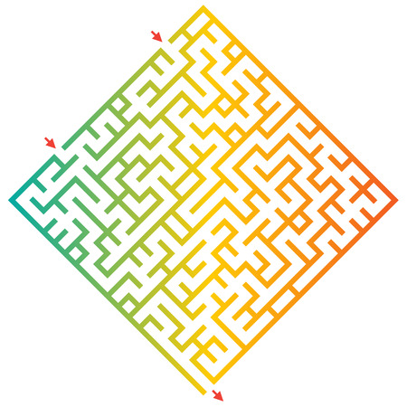 Funny maze game for kids. Visual game for Preschool Children. Maze puzzle with solution. Vector Labyrinth for preschool children. Rebus or quiz for school Çizim