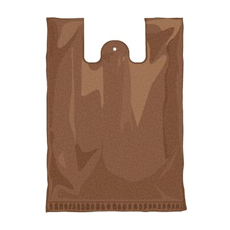 hang up: Paper bag vector illustration. Brown paper bag. Paper bag blank. Mock up template ready for your design. Vector illustration of paper  bag Illustration