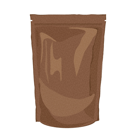 brown paper: sack craft paper packaging. Brown paper bag. Illustration