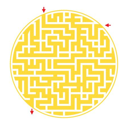 Rebus or quiz for school. Funny maze game for kids. Visual game for Preschool Children. Vector Labyrinth for preschool children Illustration
