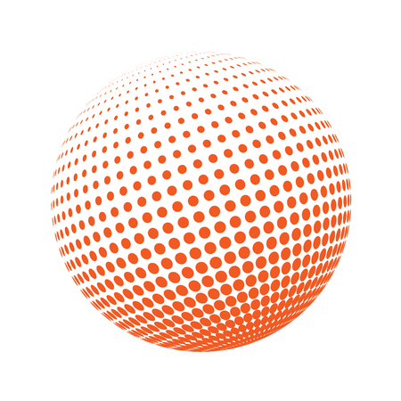 environmental science: Science and tourism, technology or environmental background. Abstract halftone circle design. Colorful round icon, abstract globe symbol, business concept. Abstract colorfu dotted sphere