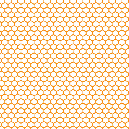 cancellated: honeycomb orange and yellow pattern vector illustration Illustration