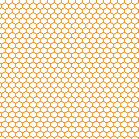 honeycomb orange and yellow pattern vector illustration Illustration