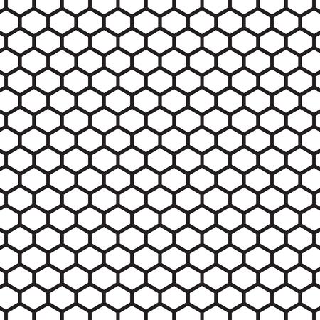 tire cover: Hexagonal vector pattern Illustration