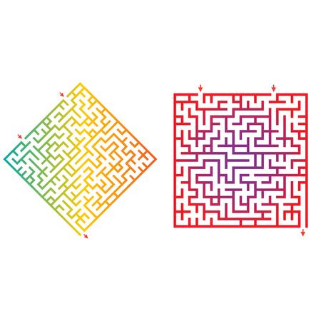 logic match for kids. Labyrinth for preschool children