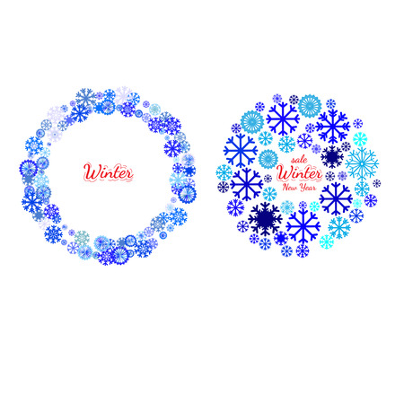 Set of banners with Christmas and New Year symbol. Holidays collections of  background for card, package, flyer, banners, posters with snowflake and space for text
