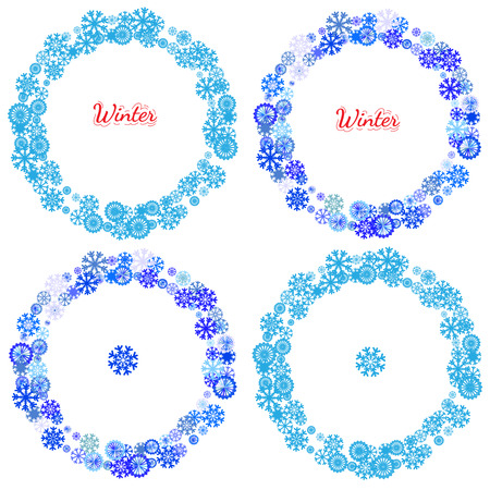 pictogramme: Holidays collections of  background for card, package, flyer, banners, posters with snowflake and space for text. New year and Christmas pictograms, mandala, circle symbol