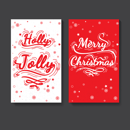 marry christmas: Slogan on Christmas theme. Christmas calligraphic lettering for post card, posters, baneers, flyers. Vector lettering collection. Holly Jolly - quote. Marry Christmas - quote christmas ideas
