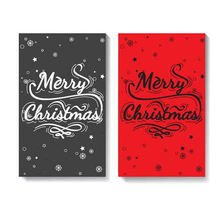 marry christmas: Set of Calligraphic lettering - Marry Christmas. Christmas lettering for post card, posters, baneers, flyers. handwriting slogan on holidays theme. Marry Christmas - quote Illustration