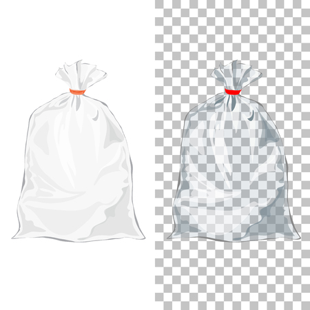 Set of Transparent wrap bags can use for candy and branding design. Template of clear pocket Packaging